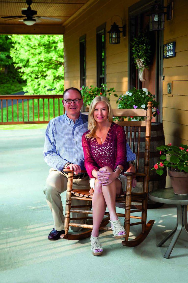 David and Lisa McCormick at their Cheat Lake Home.