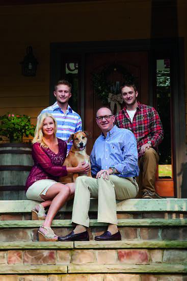 David McCormick, Lisa and their sons, Ryan and Corey