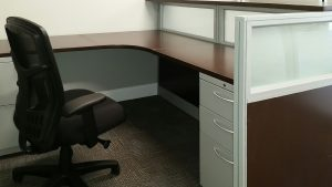 Workstation and Chair by Omega Commercial Interiors