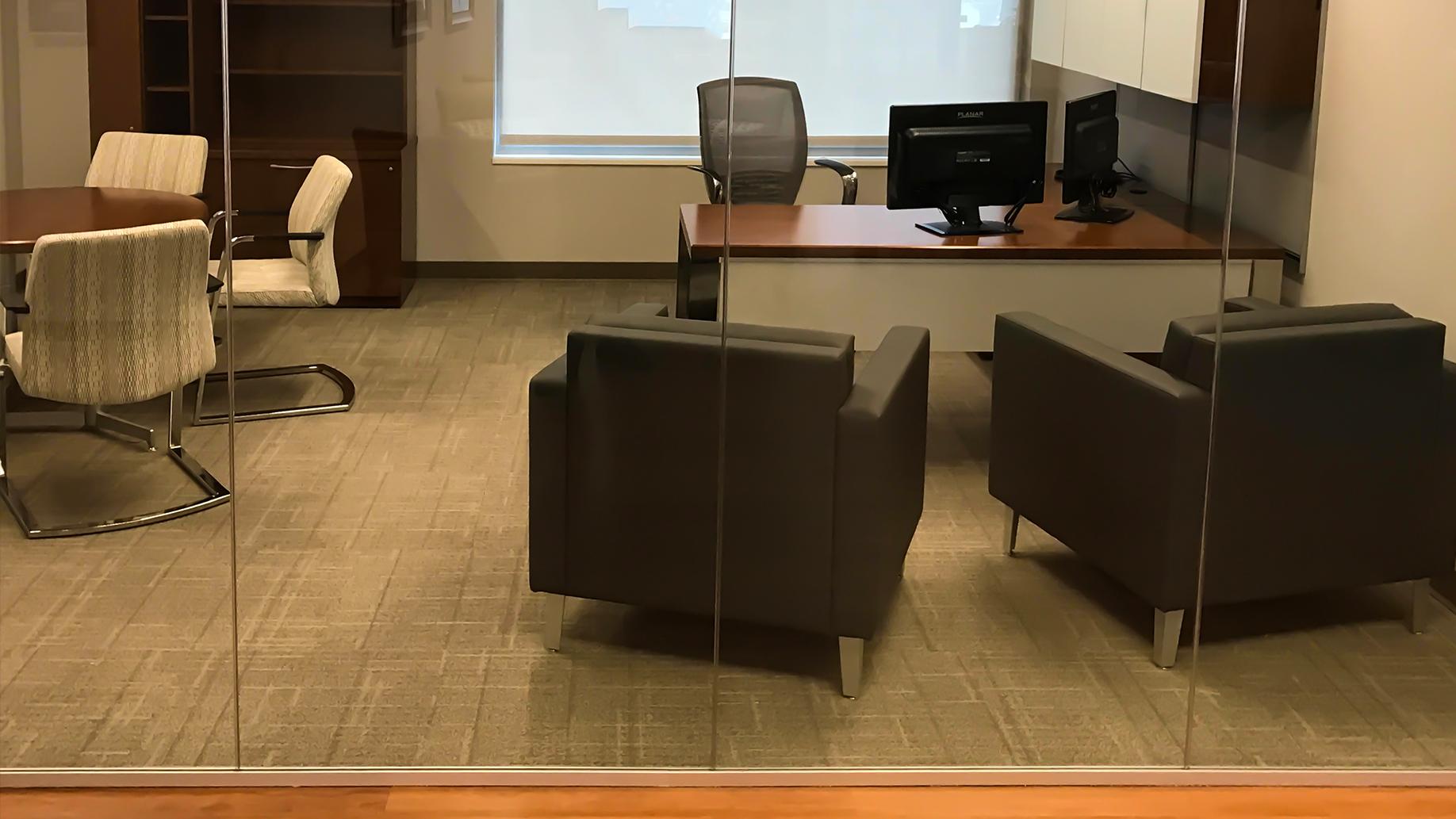Frameless Glass Office Front