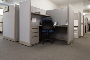 Hon Panel Systems Open Corner installed by Omega Commercial Interiors
