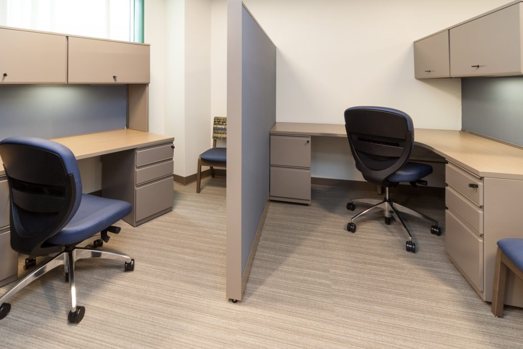 Organize your workspace with furniture by Kimball