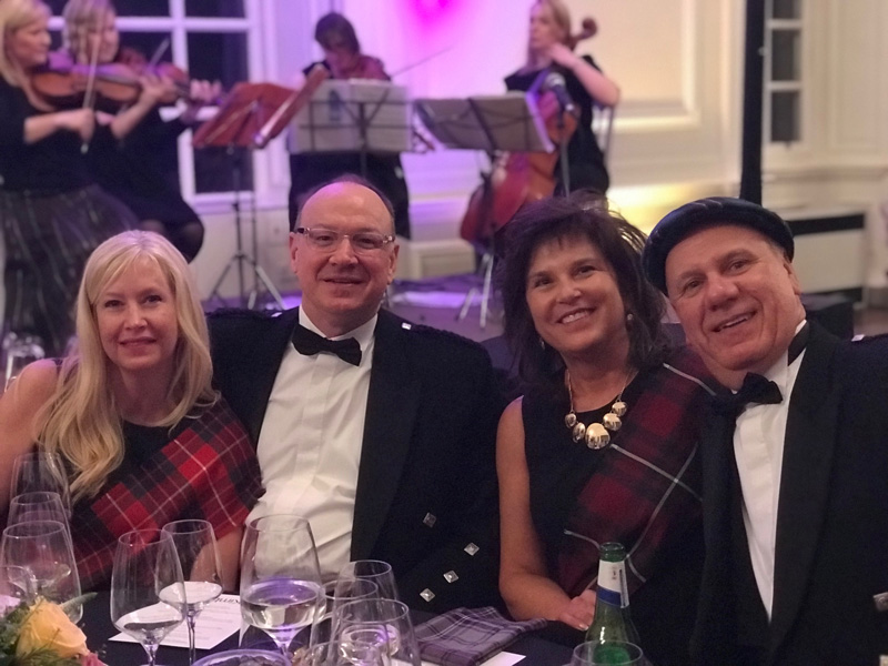 David McCormick and Peggy Lovio of Omega Commercial Interiors with their spouses, Lisa and Bob on the Kimball Sales Incentive Trip to Scotland