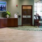 Bank Reception Area designed by Omega Commercial Interior Designers