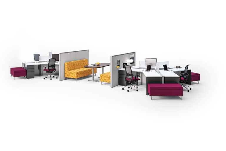 Footprint Benching System by Kimball Office