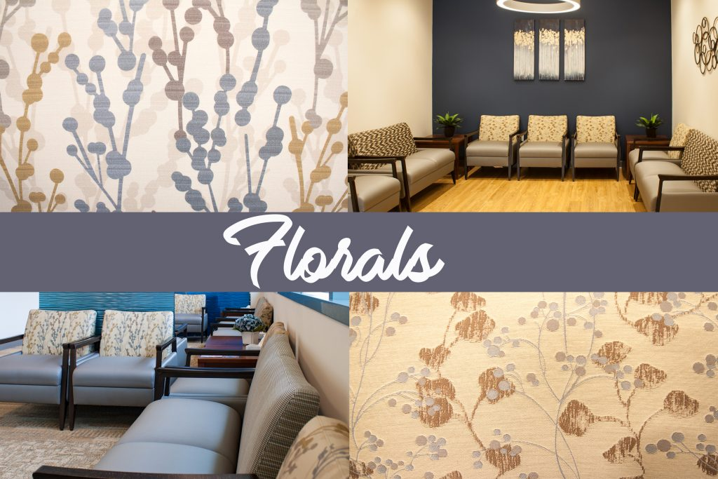 Spring Mills WVU Urgent Care Facility designed by Omega Commercial Interiors- Using Floral Design Patterns