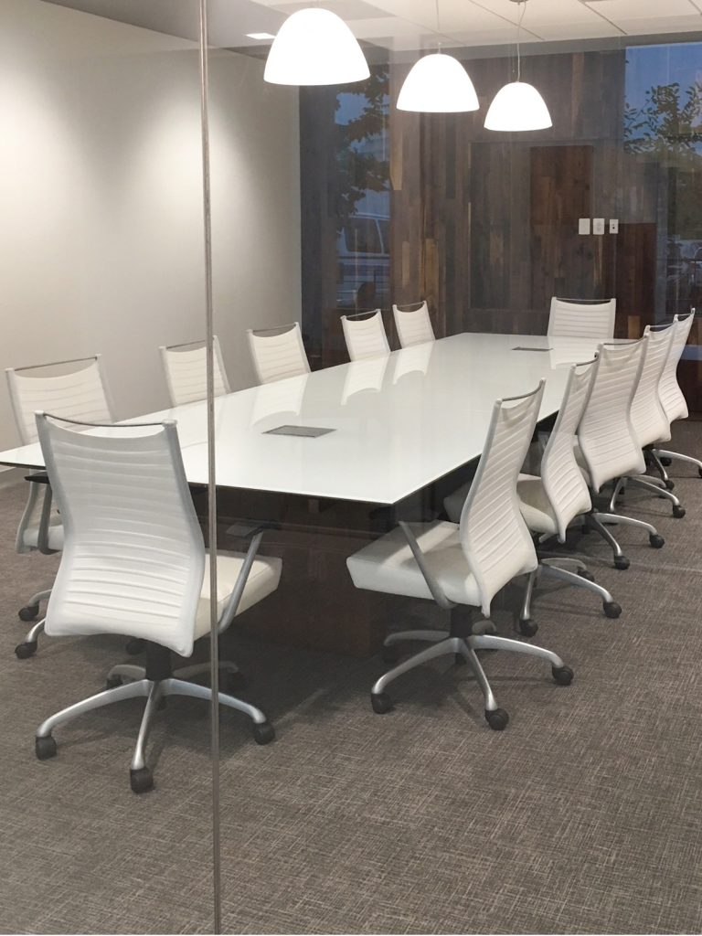 Mid Century Modern Look-conference and chairs- MVB Bank Reston, Va