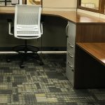Kimball Stand/Sit Cetra Panel System w/ Joya Sit to Stand Task Stool