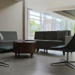 Segment Seating with Pedestal Chairs