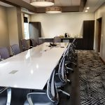 Kimball® Dock™ Conference Table and Kimball® Wish™ Conference Chair.