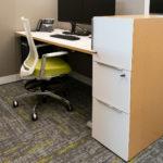 Kimball® Helio™ Task Stool and Kimball XSede™ Sit to Stand Desk