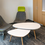 National® Mabel™ Lounge Chairs with Wixler™ Occasional Tables