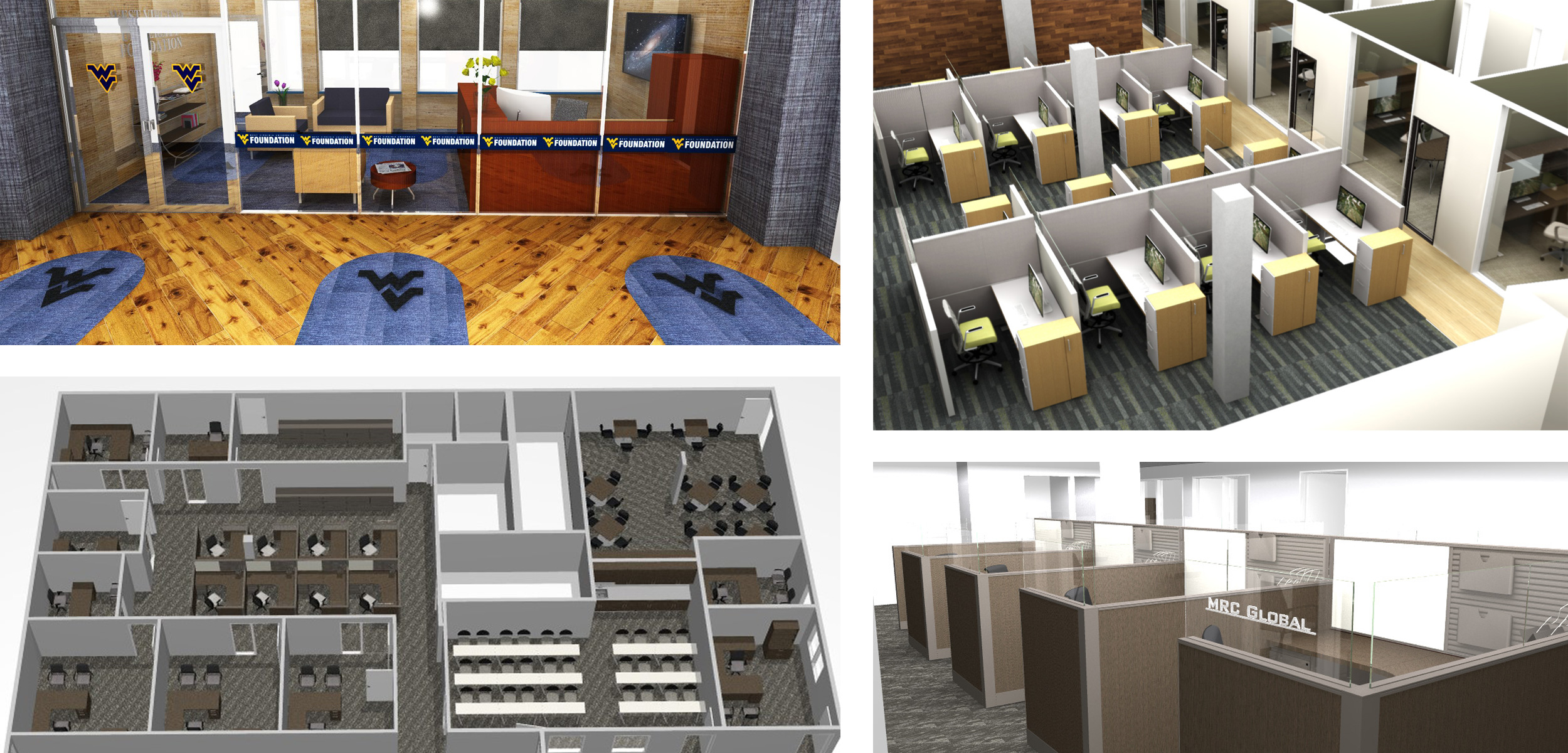 Benefits of Space Planning includes 3d Visualization