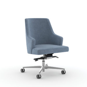 Nate & Natty™ Conference Chair with Arms and Swivel Base